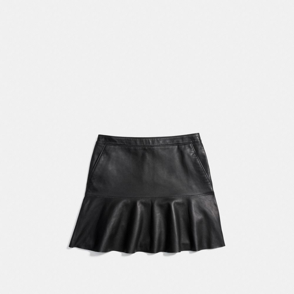 Fluid Leather Skirt - Alternate View A1