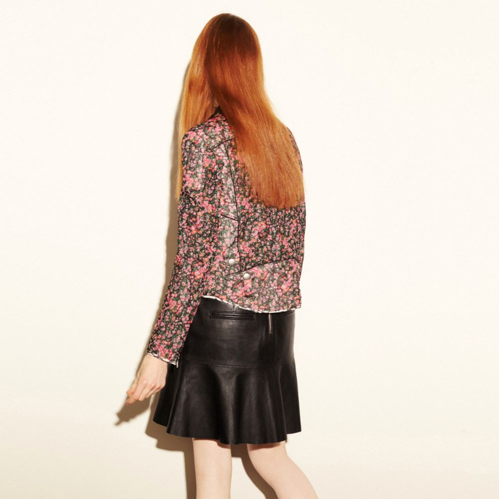 FLUID LEATHER SKIRT - Alternate View M2