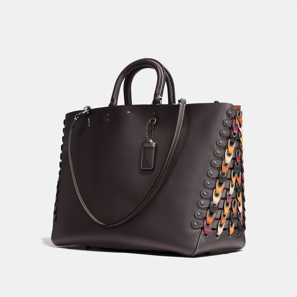 Coach Rogue Tote With Colorblock Coach Link Detail Alternate View 2