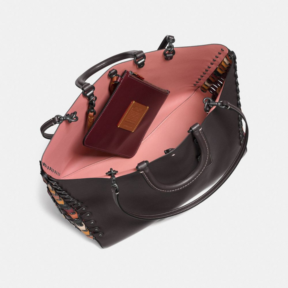Rogue Tote With Coach Link Leather Detail in Glove Calf - Alternate View A2