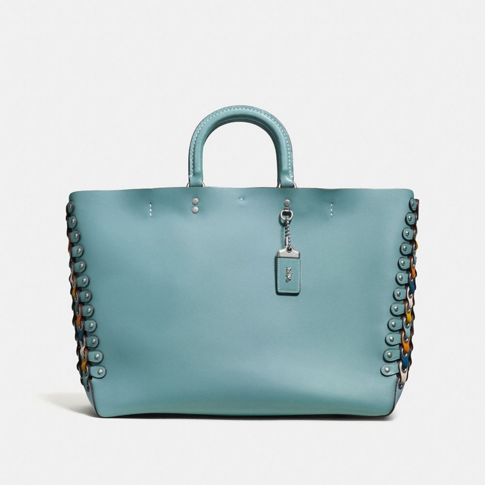 Rogue Tote With Coach Link Leather Detail in Glove Calf