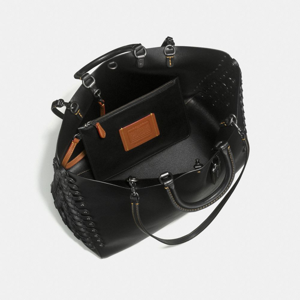 Rogue Tote With Coach Link Leather Detail in Glove Calf - Alternate View A5