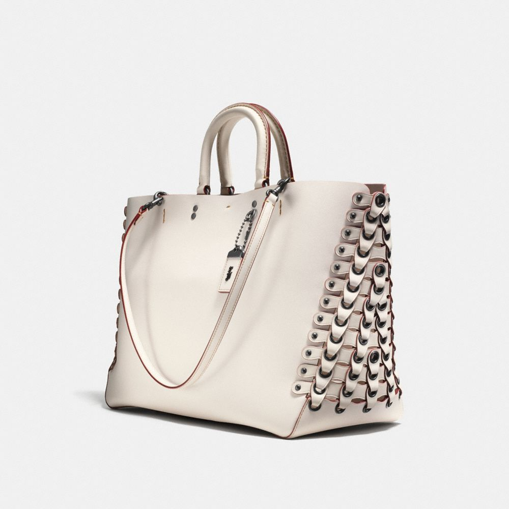 ROGUE TOTE WITH COACH LINK LEATHER DETAIL IN GLOVE CALF - Alternate View