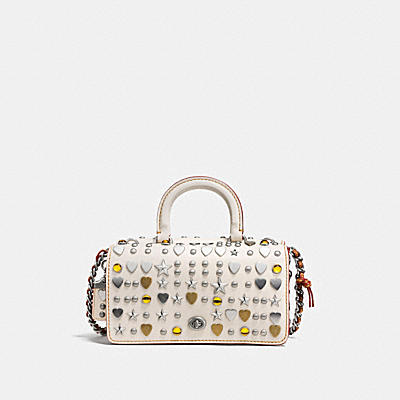 DOUBLE DINKY IN GLOVETANNED LEATHER WITH BEATNIK RIVETS