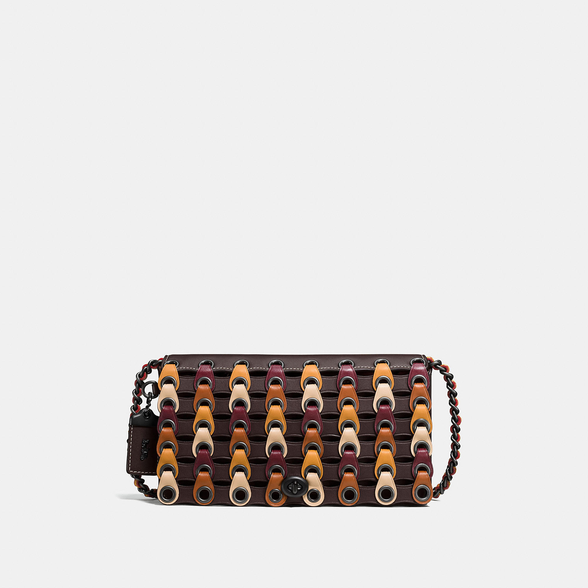 Coach Dinky In Link Glovetanned Leather