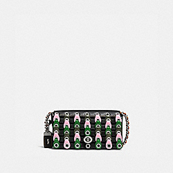 DINKIER WITH COLORBLOCK COACH LINK - BLACK/KELLY GREEN/LIGHT ANTIQUE NICKEL - COACH 86832