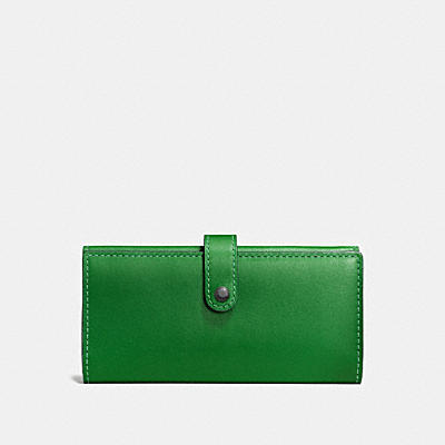 SLIM TRIFOLD WALLET IN PRINTED GLOVETANNED LEATHER