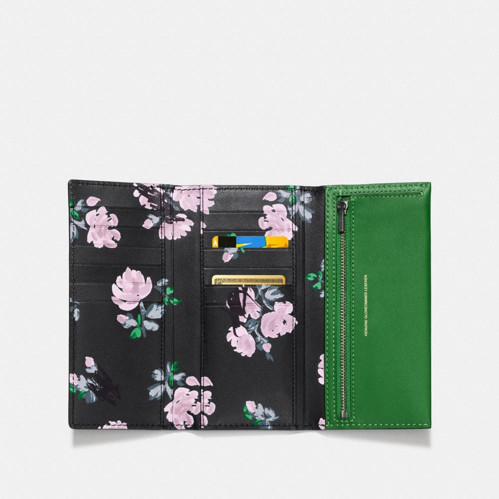 Slim Trifold Wallet in Printed Glovetanned Leather - Alternate View A1