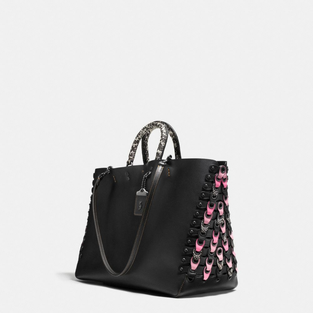 Coach Rogue Tote With Exotic Coach Link Leather Detail Alternate View 2
