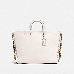 ROGUE TOTE WITH SNAKESKIN COACH LINK DETAIL - OL/CHALK BEECHWOOD MULTI - COACH 86919