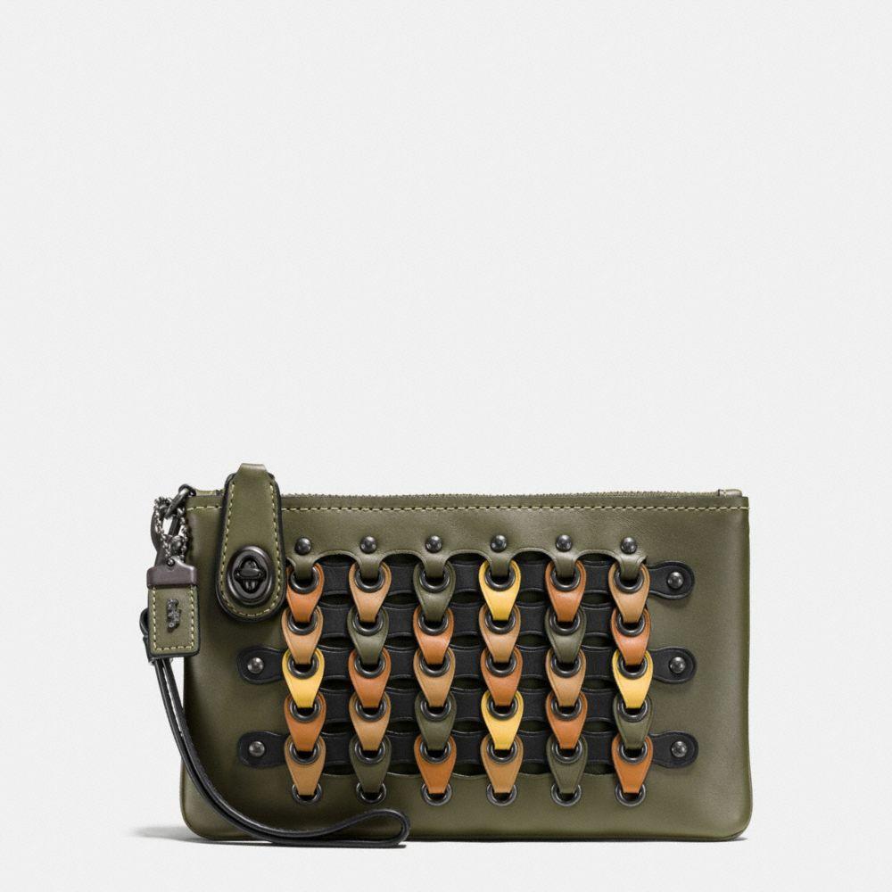Turnlock Wristlet 21 in Coach Link Glovetanned Leather