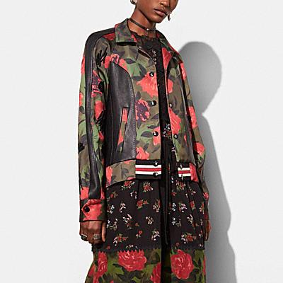VARSITY迷彩玫瑰夾克