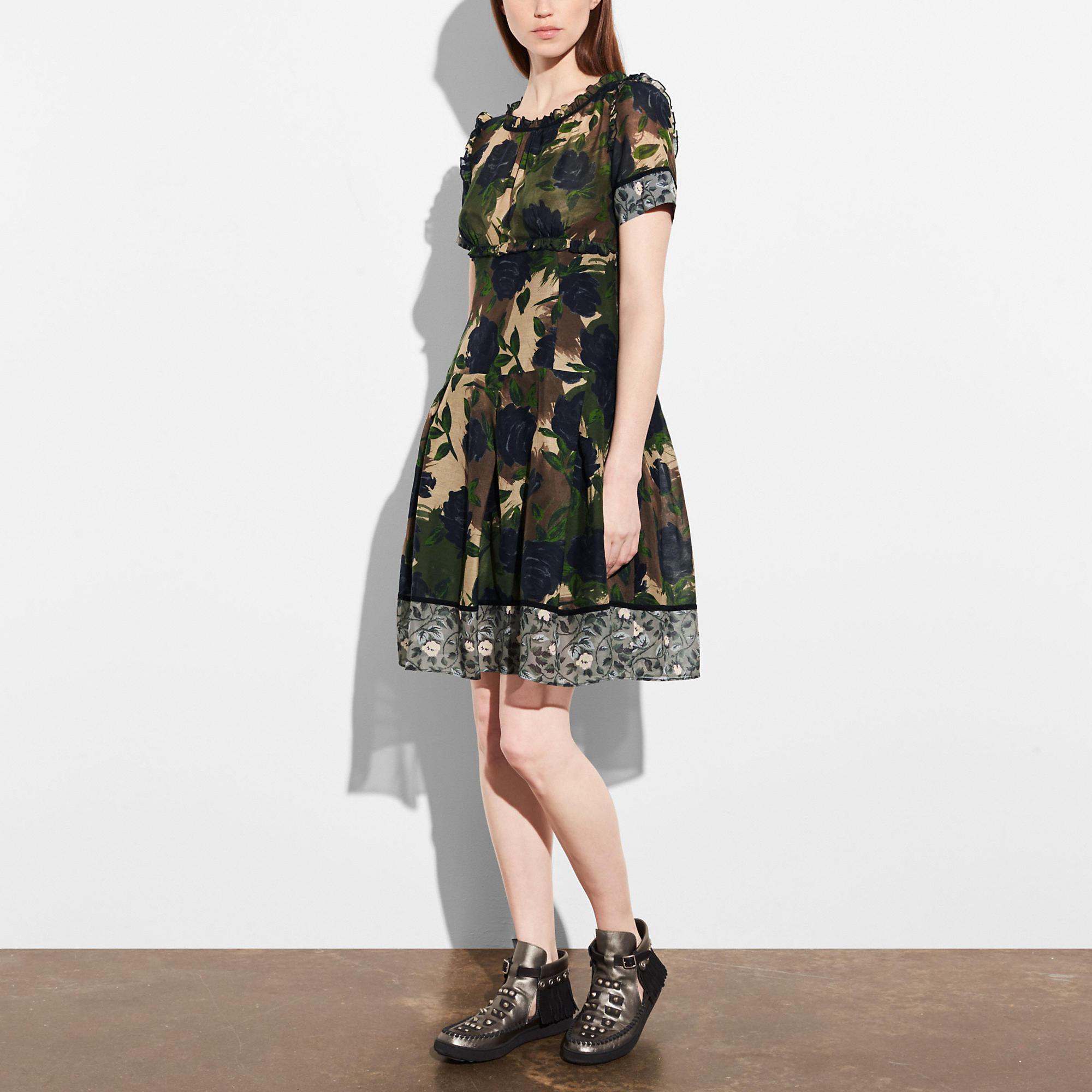 Coach Mixed Print Dress