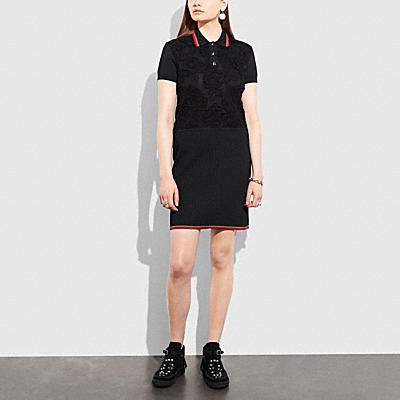 ROSE LACE POLO DRESS