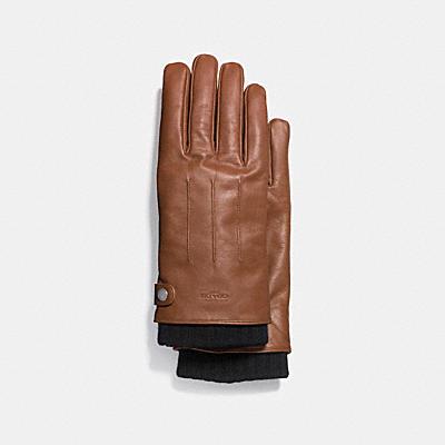 三合一皮革手套