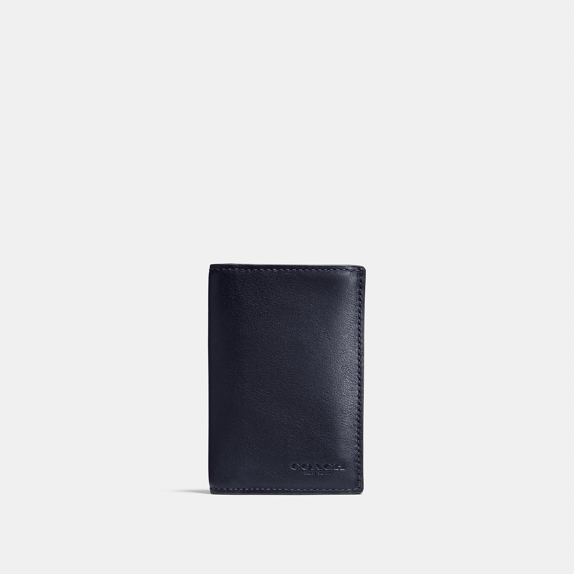 Coach Bifold Card Case In Sport Calf Leather