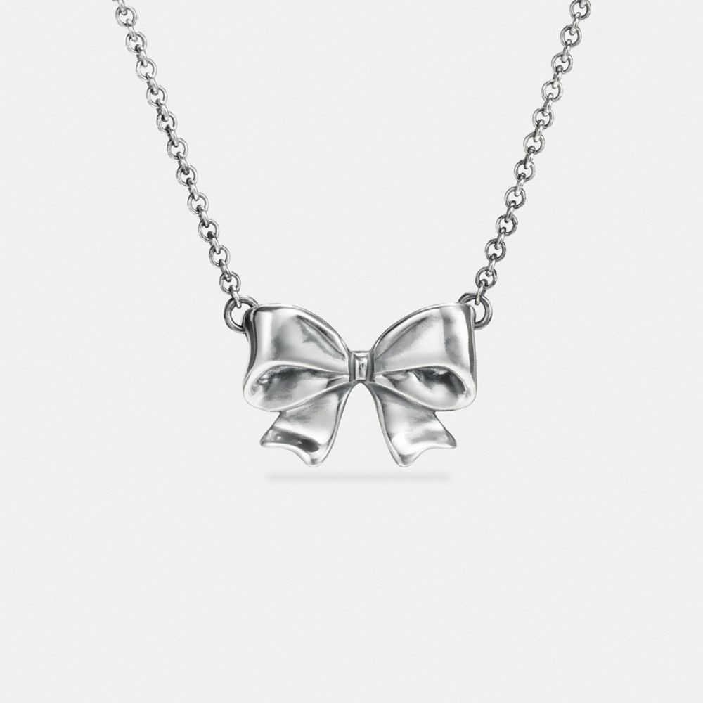 STERLING SILVER BOW NECKLACE - Alternate View