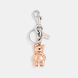 3D BEAR BAG CHARM - ROSEGOLD - COACH 87166