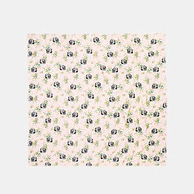DOG FLOWER印花大型方巾