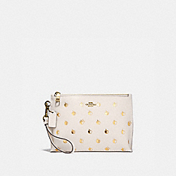 CHARLIE POUCH WITH APPLE PRINT - B4/CHALK MULTI - COACH 872
