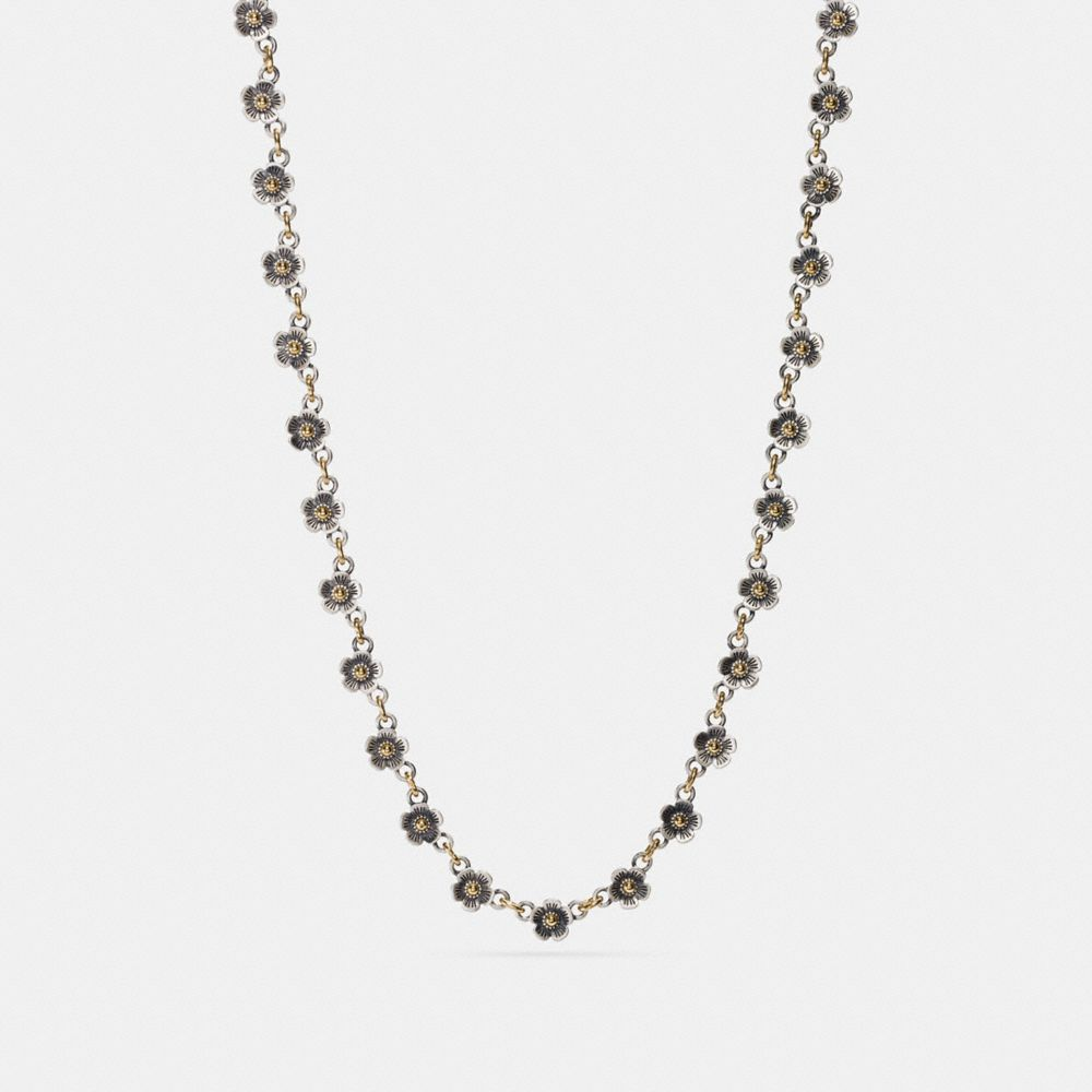 Coach Ditsy Willow Floral Chain Necklace