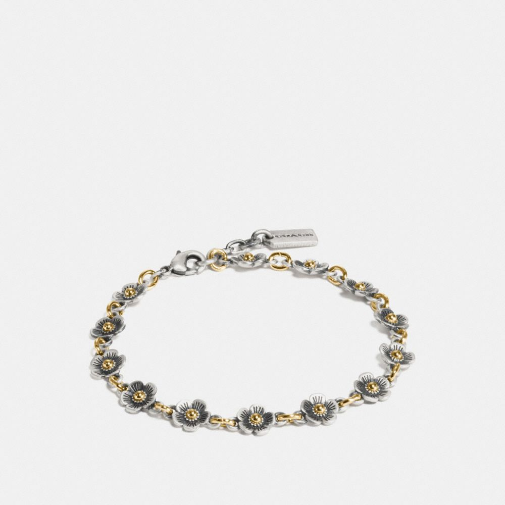 Coach Ditsy Willow Floral Chain Bracelet
