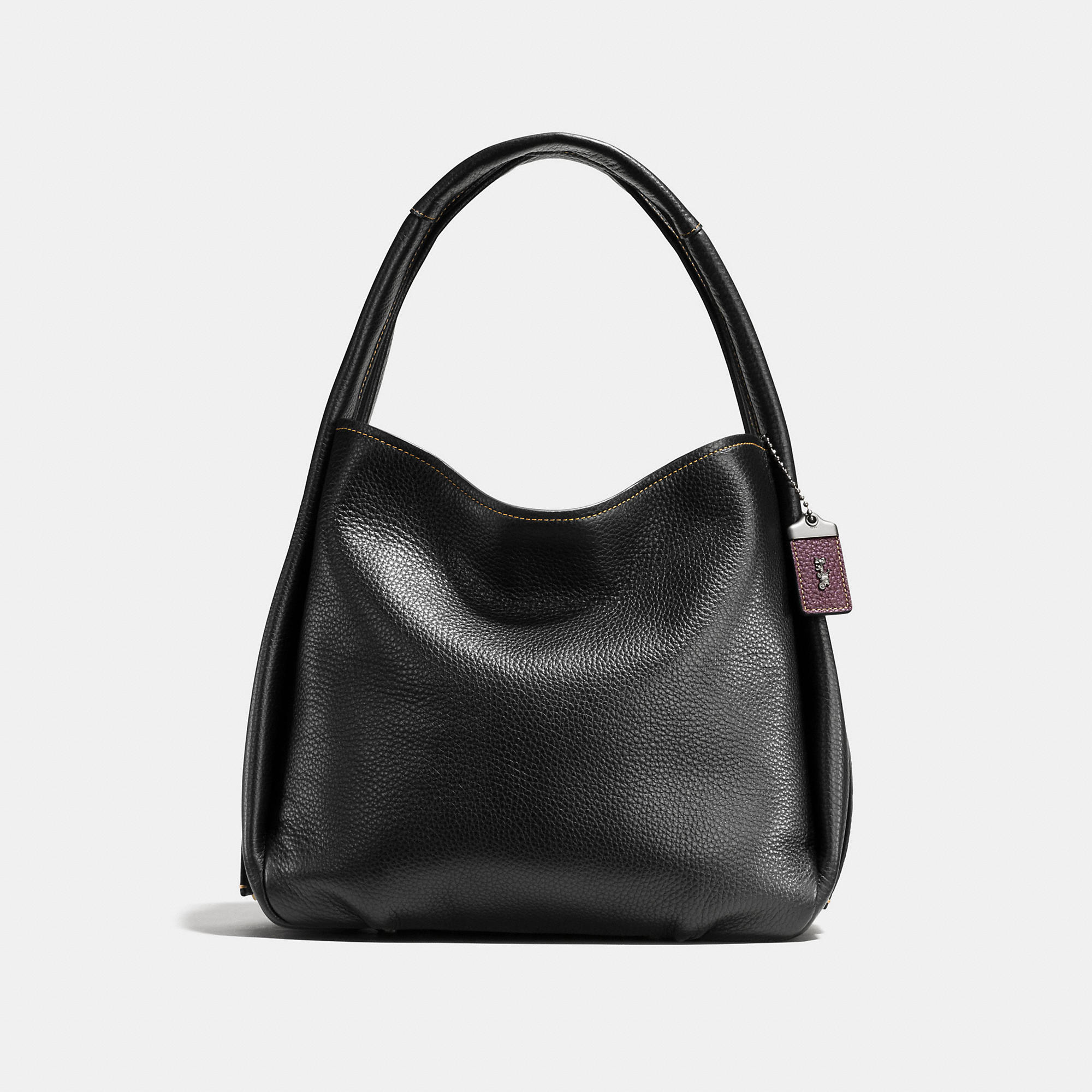 Coach Bandit Hobo In Natural Pebble Leather