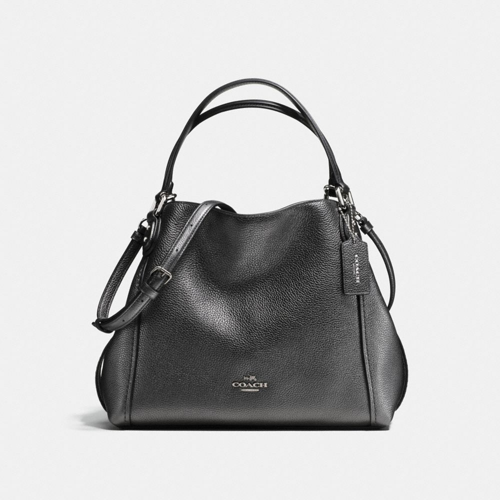 EDIE SHOULDER BAG 28 IN METALLIC LEATHER