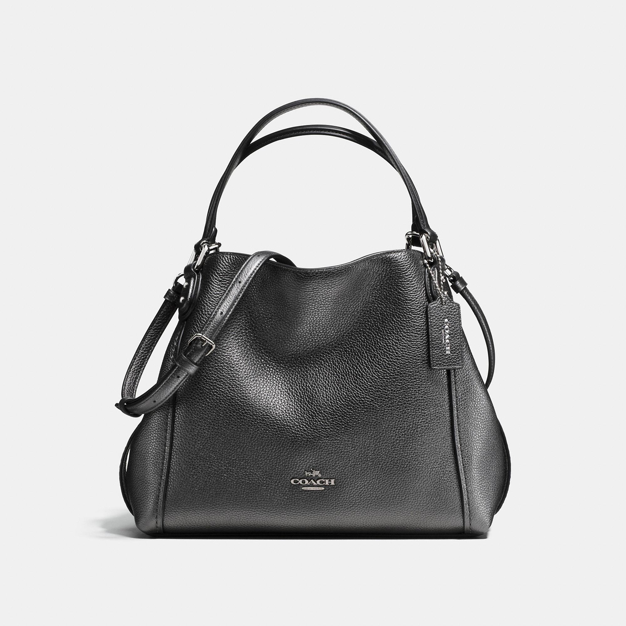 Coach Edie Shoulder Bag 28 In Metallic Leather