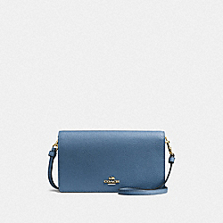 HAYDEN FOLDOVER CROSSBODY CLUTCH - B4/LAKE - COACH 87401