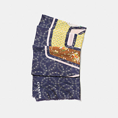 NASA LOGO PATCHWORK OBLONG SCARF