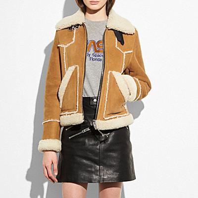 翻皮羊毛短夾克