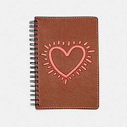 KEITH HARING NOTEBOOK - SADDLE - COACH 87602