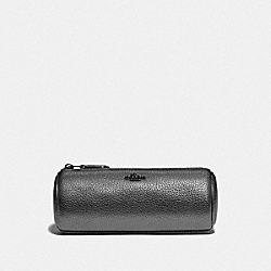 BRUSH POUCH 16 - GUNMETAL/METALLIC GRAPHITE - COACH 87649
