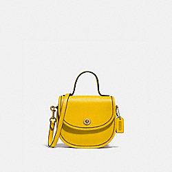 MINI TOP HANDLE SADDLE BAG - B4/LEMON - COACH 876