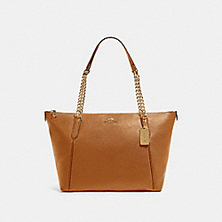 AVA CHAIN TOTE - IM/LIGHT SADDLE - COACH 87775