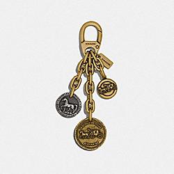 COACH ICON COIN MIX BAG CHARM - B4/MULTI - COACH 87984