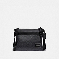 PACER CROSSBODY IN SIGNATURE CANVAS WITH COACH PATCH - JI/CHARCOAL - COACH 87989