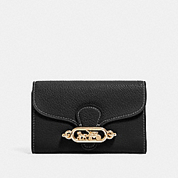 JADE MEDIUM ENVELOPE WALLET - IM/BLACK - COACH 88099