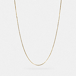 COLLECTIBLE CHAIN NECKLACE - GOLD - COACH 88192