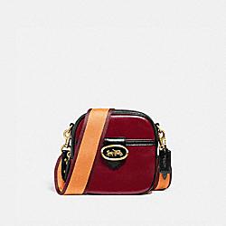 KAT CAMERA BAG IN COLORBLOCK - B4/DEEP RED MULTI - COACH 88224