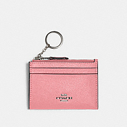 MINI SKINNY ID CASE - QB/PINK LEMONADE - COACH 88250
