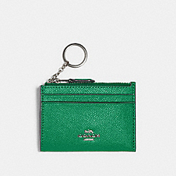 MINI SKINNY ID CASE - SV/SHAMROCK - COACH 88250