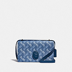 CAMILLE CROSSBODY WITH HORSE AND CARRIAGE PRINT AND ARCHIVE PATCH - V5/BLUE TRUE BLUE - COACH 88343