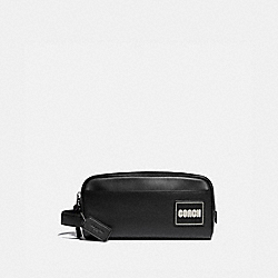 TRAVEL KIT WITH COACH PATCH - BLACK - COACH 88456