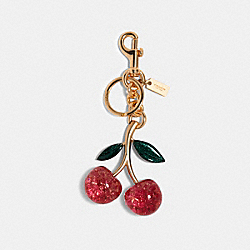 SIGNATURE CHERRY BAG CHARM - IM/PINK MULTICOLOR - COACH 88547