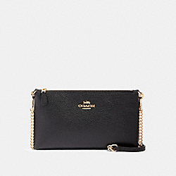 ZIP TOP CROSSBODY - IM/BLACK - COACH 88682
