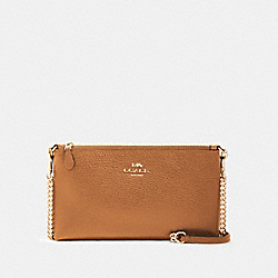 ZIP TOP CROSSBODY - IM/LIGHT SADDLE - COACH 88682