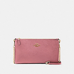 ZIP TOP CROSSBODY - IM/ROSE - COACH 88682
