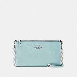 ZIP TOP CROSSBODY - SV/SEAFOAM - COACH 88682